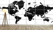 WORLD MAP CARTE DU MONDE Vector Style XXL Poster Home Deco Salon 252cmX150