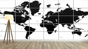 World map carte du monde vector style xxl poster home deco salon image is loading world map world map poster xxl vector style gumiabroncs Choice Image