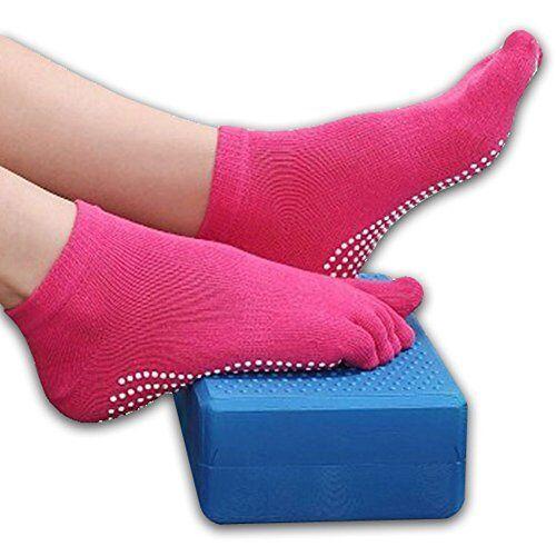 Yoga Socks Non Slip Pilates Massage 5 Toe Socks with Grip Exercise Gym 6 COLOURS