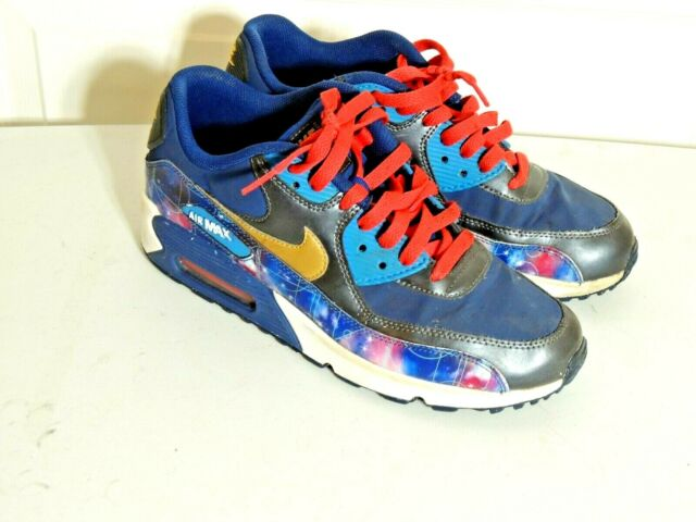 Nike Air Max 90 Premium Leather (GS) Big Kids Running Shoes 724879 004 Size 7
