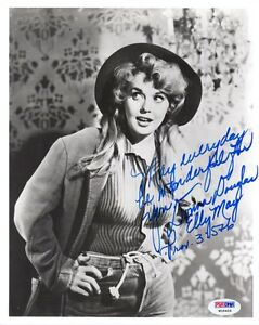 DONNA-DOUGLAS-SIGNED-AUTOGRAPHED-8x10-PHOTO-ELLY-MAY-BEVERLY-HILLBILLIES-PSA-DNA