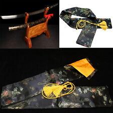 130cm Dragon and Phoenix Katana Japanese Samurai Sword Bag Silk BLACK