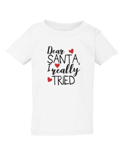 Youth Toddler Dear Santa I Really Tried Christmas Shirt Xmas T-Shirt Boys Girls