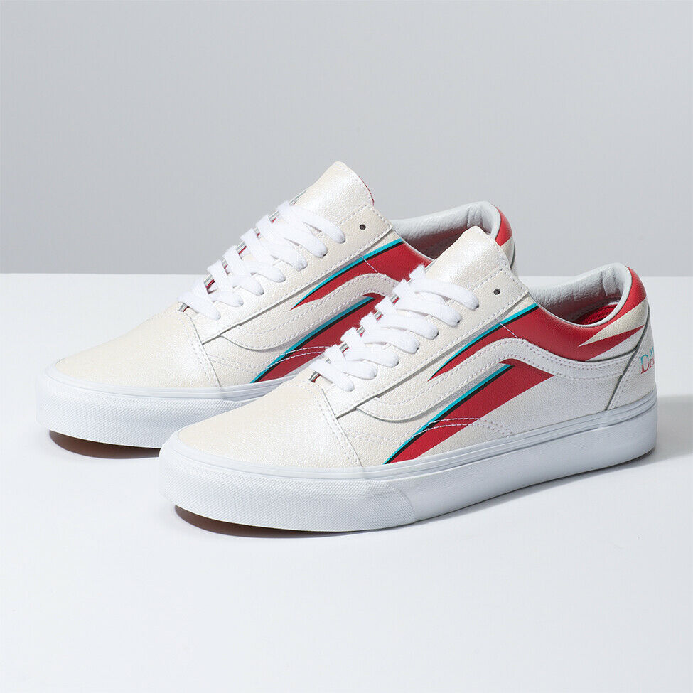 VANS X DAVID BOWIE Old Skool Aladin Sane White Sneakers Limited Edition Original