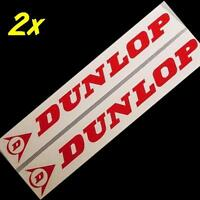 Dunlop Red 23 Inch 58 Cm Long Stickers Decals Large For Trailer Sponsor Racing