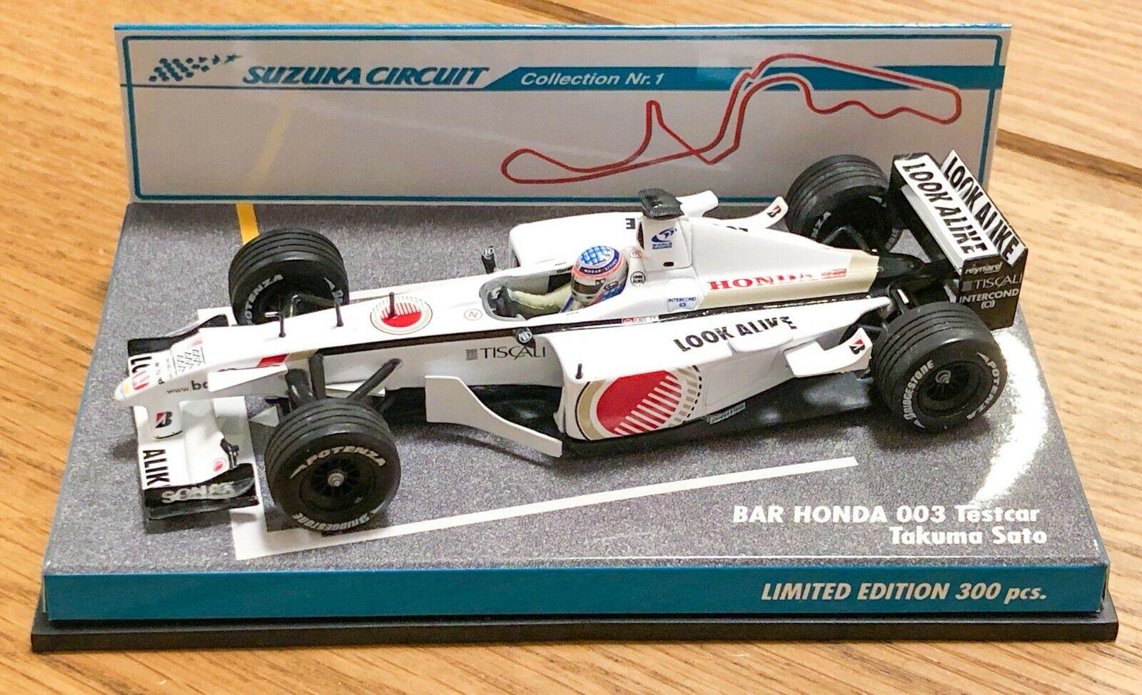 No en venta   Minichamps 1 43 Bar Honda 003 Testcar Takuma Sato F1 2001 Suzuka