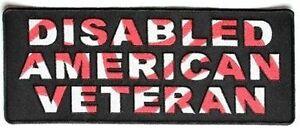 LARGE-Disabled-American-Veteran-POW-Military-Back-Biker-MC-Club-Patch-LRG-0575
