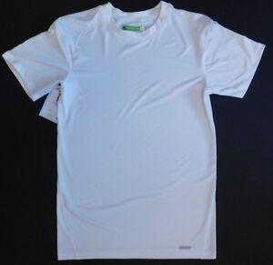 NWT-TEK-GEAR-White-Super-Soft-Dri-Fit-Athletic-Performance-Fablic-Sz-XL-T658