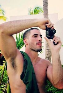 Men hairy arm pits