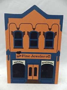 Cat-039-s-Meow-Village-Series-III-Fine-Jewelers-dated-1990-EUC