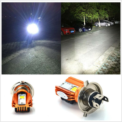 DC 12V Motorcycle H4 Headlight Bulb H4 Led 20W 2000LM COB Accessory DRL Light