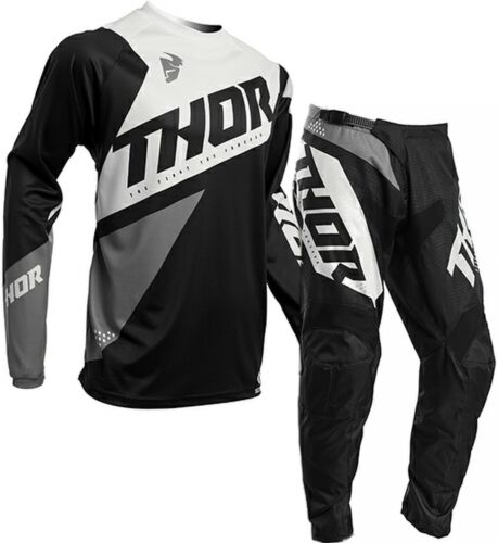2020 Thor Sector Blade Black White Offroad MX Motocross Race Kit Gear Adult