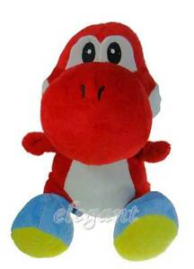 Nintendo-Super-Mario-Brothers-Bros-Red-Yoshi-12-034-Stuffed-Toy-Soft-Plush-Doll