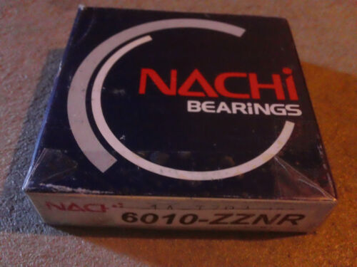NACHI 6010ZZNR Ball Bearing Double Shield With Snap Ring