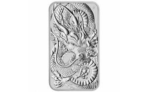 AUSTRALIE 1 Dollar Barre Argent 1 Once Dragon 2021