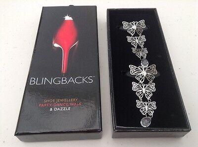Zapato de Diseño de Mariposa blingbacks Joyas-Nuevo Y En Caja