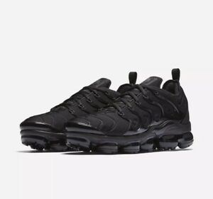 714420332ca Nike Air Vapormax Plus Mens 924453 Triple Black Tuned OG Max Off ...