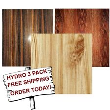 Hydro Dip Hydrographic Film Water Transfer Printing Film Straight Wood 3 Pack