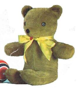 Details about Vintage Stuffed Toy PATTERN 6810 Teddy Bear 21 inch with  button eyes felt nose