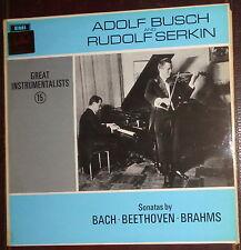 Adolf Busch & Rudolf Serkin Sonatas - Bach Beethoven Brahms LP. EMI HQM 1219
