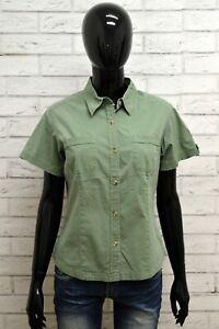 Camicia-COLUMBIA-Donna-Taglia-M-Maglia-Shirt-Blusa-Woman-Manica-Corta-Cotone