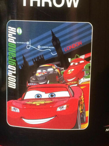 Cars 2 Lightning McQueen World Grand Prix London Fleece Blanket NEW