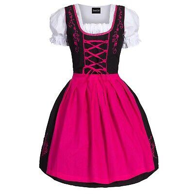 Gr Bluse 34-52 Neu OVP SchGrün Schürze Dirndl Set  3 tlg.Trachtenkleid Kleid