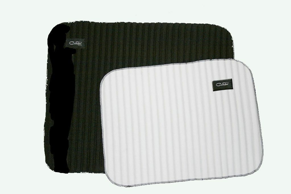 Ceratex Bandagierunterlagen 2 Paar dünn dünn Paar gerippt schwarz-weiß 30x40 cm + 40x50 cm 47c991