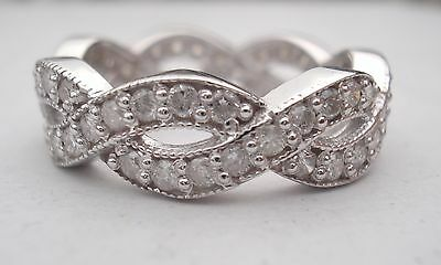 1.50ct Diamond 14k White Gold Elegant Bridal Wedding Ring/Band