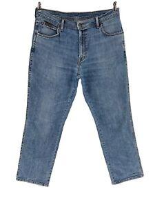 Wrangler Texas Bleu Extensible Standard Jeans Coupe Droite Taille W36 L30