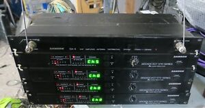 Smart 4x Samson Broadcast Br3 Wirless Receivers vhf-fm With Da4