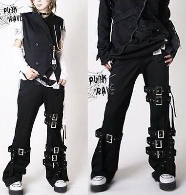 Unisex Kera Shop japan Street  Rock PUNK Kei MUMMY Bondage PANTS Trousers