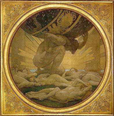 Art Print - Atlas And Hesperidesfa - Sargent John Singer 1856 1925