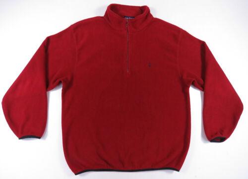 Rosso Stemma Vela Vintage 1 In Maglioncino 4 Usa Zip Nero Pile Nautica Made dq6Wwpn4d