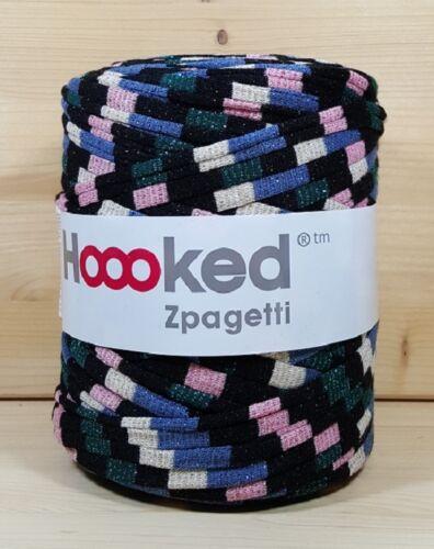 verde rosa tonos beige Hoooked /'zpagetti brillo Festival/' nuevo negro azul