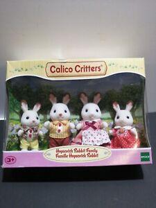 Calico-Critters-Hopscotch-Rabbit-Family-4-Figures-DAMAGED-BOX