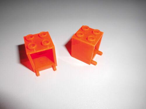 4345 in tr LEGO NEON-Orange da 6195 6175 6190 6155 2 CONTENITORI SCATOLE//2x2x2