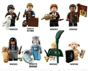 Harry-Potter-custom-Mini-figures-Dumbledore-Newt-Scamander-Weasley-Set-of-8