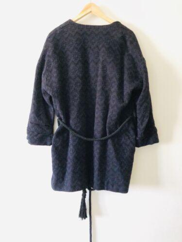 Sizem Zara Womens Manteau Nouveau Patteren Blue wwZC1Ixq
