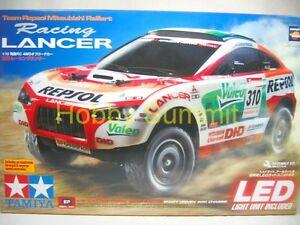 Tamiya-1-10-R-C-RALLIART-LANCER-Team-Repsol-4WD-w-LED-Off-Road-Rally-Car-58421