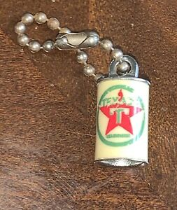 Vintage Texaco Gasoline Advertising Charm / Keychain