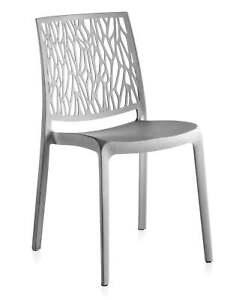 Sedie Da Esterno Design.4 Sedie Da Giardino O Da Interno In Resina Grigie Sedia Da Design