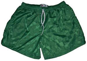Kelly-Green-Checker-Nylon-Soccer-Shorts-by-Don-Alleson-Men-039-s-Small