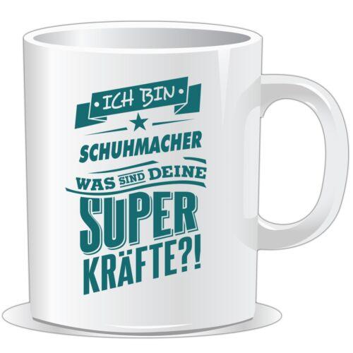 petrol.. Tasse Superpower Schuhmacher getshirts RAHMENLOS® Geschenke