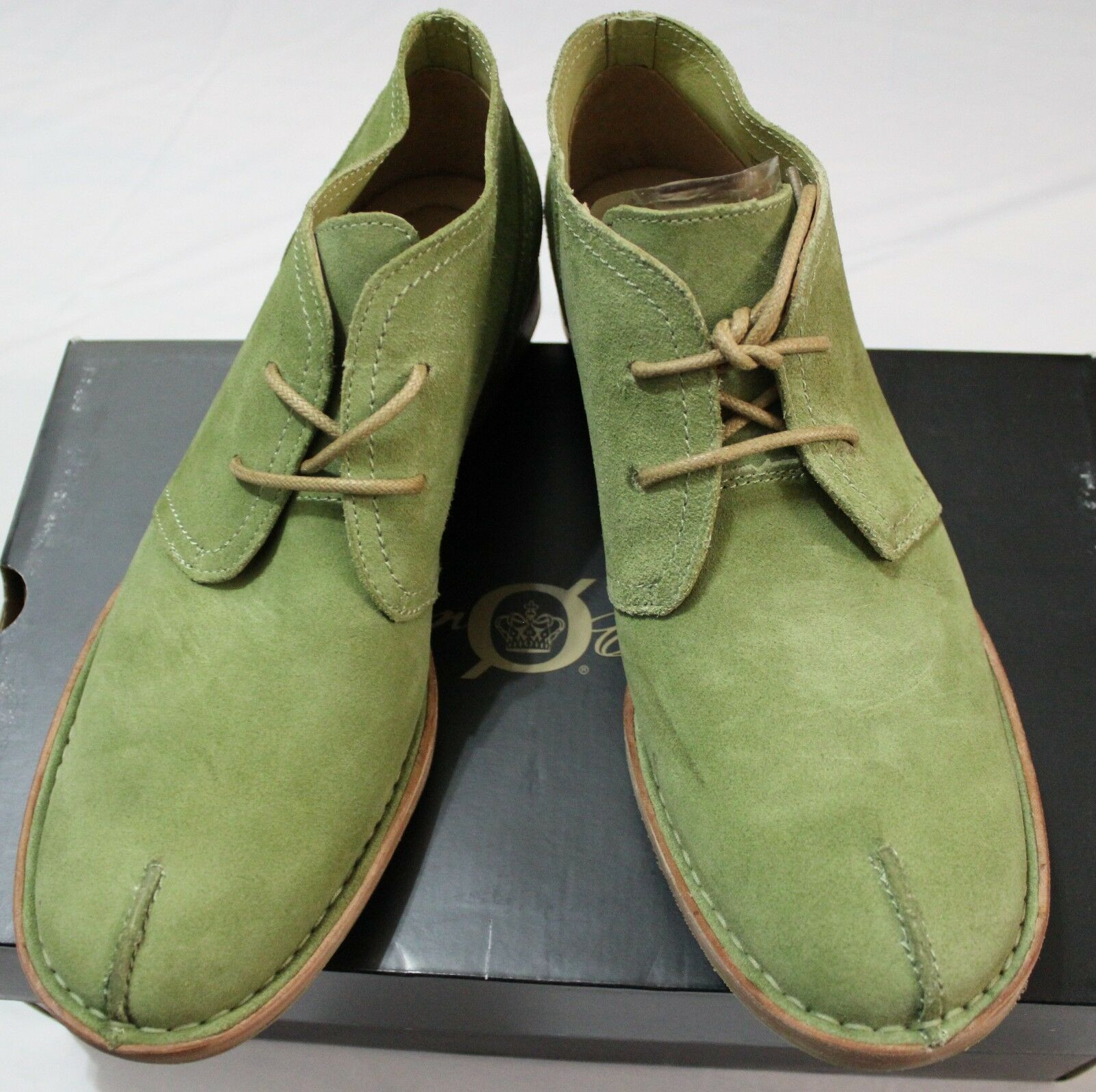 185 BORN GABE ZYDECO GREEN SUEDE CHUKKA BOOT US 9M  EUR 42.5