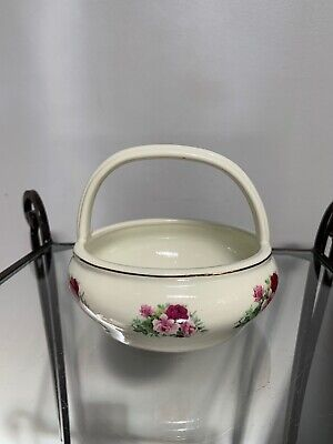 Vintage Formalities By Baum Bros Victorian Rose Collection Porcelain Bowl Basket Ebay