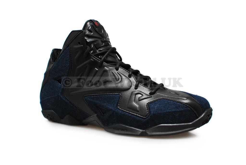 Da Uomo Nike-Lebron Xi Ext Denim Qs  Rare  - 659509 004-nero Scarpe Da Ginnastica