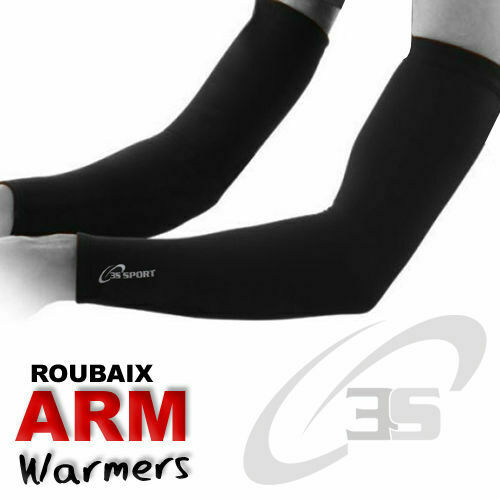 Cycling Arm//Elbow Warmer Thermal Roubaix Winter Running Cycle Warmers All Black