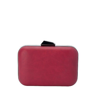 NEW Olga Berg OB7260 Blanca Mottled Oversized Pod Clutch Burgundy