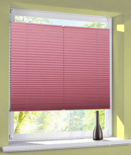 Plisse Blind Klemmfix Blackout Thermal Uptight Easyfix Opaque without drilling FS